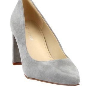 Marc Fisher Grey Caitlin Suede Pumps Pointed Toe